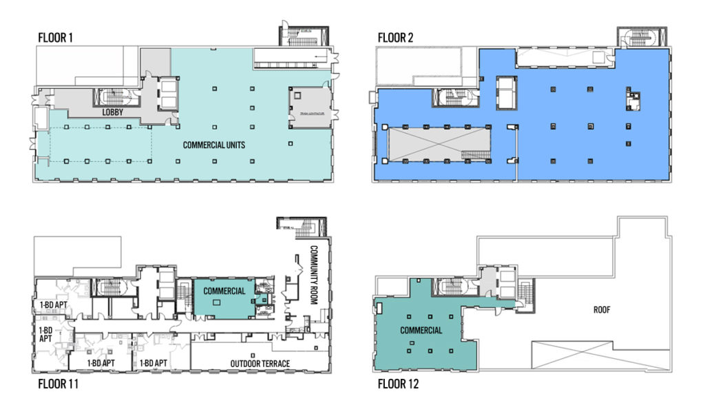 Beury building floor plans